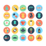 Fashion and Beauty Colored Vector Icons 6 Stock Image