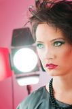 Fashion beauty concept with girl Royalty Free Stock Photography