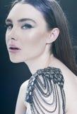 Fashion beauty girl portrait stock photo