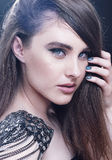 Fashion beauty girl portrait with make-up. royalty free stock photos