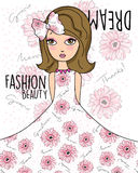 Fashion beauty girl's dream Royalty Free Stock Photos