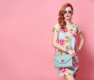 Fashion Beauty. Glamour Stylish Redhead Model Royalty Free Stock Images