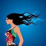 Fashion beauty  in glamourus style Stock Image