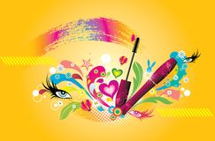 Fashion beauty items. The fashion beauty items background Royalty Free Stock Photo