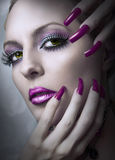 Fashion beauty make up. Stock Photo