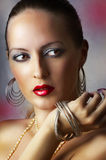 Fashion beauty make-up. sexy girl Stock Images