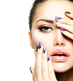 Fashion Beauty. Manicure and Makeup