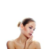 Fashion and beauty portrait Royalty Free Stock Photos