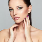 Fashion Beauty Portrait of Beautiful Girl. Professional Makeup.Woman stock images