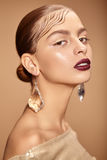 Fashion beauty portrait of beautiful young girls Stock Photo