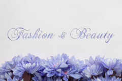 Fashion and beauty - theme with  flowers Stock Photo