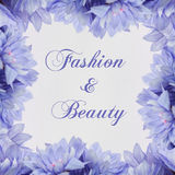 Fashion and beauty - theme with  flowers Royalty Free Stock Photo