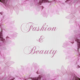 Fashion and beauty - theme with  flowers Stock Image