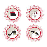 Fashion and beauty vector icons Stock Photography