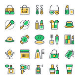 Fashion & Beauty Vector Icons 1 Stock Image