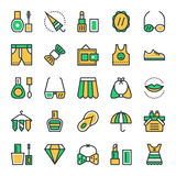 Fashion & Beauty Vector Icons 4 Stock Images