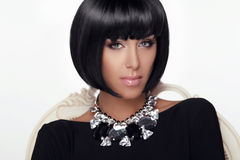 Fashion Beauty Woman Portrait. Stylish Haircut and Makeup.  Royalty Free Stock Images