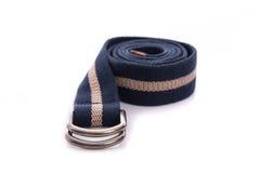 Fashion belt. Close up of fashion belt on white background isolated royalty free stock photography