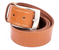 Fashion belt. Isolated with shadow on white royalty free stock photo