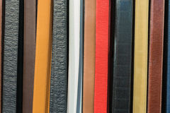 Fashion Belts (3). Collection of Colorful Belts on Rack (No Brand Names Royalty Free Stock Photography