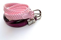Fashion belts Royalty Free Stock Photo