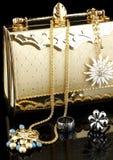 Fashion bijouterie. On black background Stock Photo