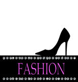 Fashion with black shoe  in the background Royalty Free Stock Images