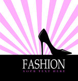 Fashion with black shoe  in the background Stock Photos