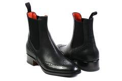 Fashion black shoes on white background Royalty Free Stock Image