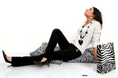 Fashion black and white Stock Photography