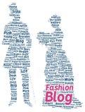 Fashion blog word cloud shape Royalty Free Stock Photos