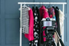 Fashion blogging video streaming trends media royalty free stock photo