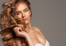 Fashion blond beauty Stock Photo