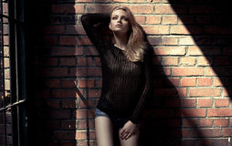 Fashion blond model Stock Photo