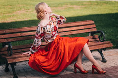 Fashion blond Royalty Free Stock Image