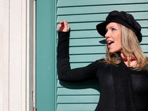 Fashion Blond Woman royalty free stock photography