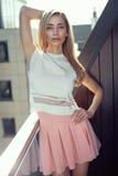 Fashion blond woman Stock Photos