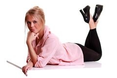 Fashion Blonde Woman Stock Photos