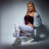 Fashion blonde woman Royalty Free Stock Photography