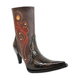 Fashion boot, woman extravagant western style boot Stock Images