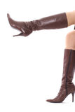 Fashion boots with legs Stock Image