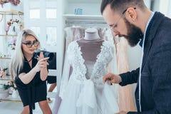 Fashion boutique clothing brand promotion service. Fashion boutique and store advertising. Clothing brand promotion service. Personal assistant and photographer stock photography
