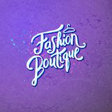 Fashion Boutique Concept on Abstract Violet Royalty Free Stock Photos