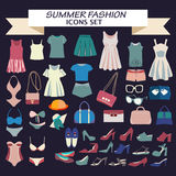 Fashion boutique  for design summer fashion look - Illustration Royalty Free Stock Photo