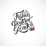 Fashion Boutique London Concept on White Royalty Free Stock Photo