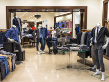 Fashion Boutique. Man fashion boutique with display of mannequin Stock Image