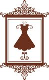 Fashion boutique sign with dress Royalty Free Stock Photography