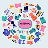 Fashion boutique Summer sales background Stock Photography