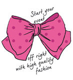 Fashion Bow Royalty Free Stock Photos