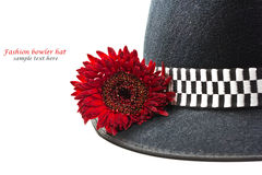 Fashion bowler hat Stock Photography